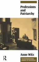 Cover image for Professions and patriarchy.