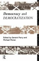 Cover image for Democracy and democratization
