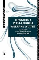Cover image for Towards a post-Fordist welfare state?