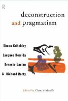 Cover image for Deconstruction and pragmatism