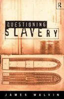 Cover image for Questioning slavery