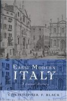 Cover image for Early modern Italy : a social history