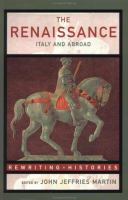 Cover image for The Renaissance : Italy and abroad