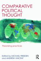 Cover image for Comparative political thought : theorizing practices