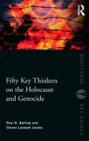 Cover image for Fifty key thinkers on the Holocaust and genocide