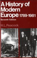 Cover image for A history of modern Europe 1789-1981