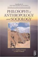 Cover image for Philosophy of anthropology and sociology