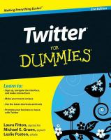 Cover image for Twitter for dummies