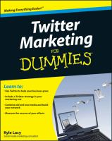 Cover image for Twitter marketing for dummies