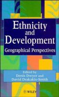 Cover image for Ethnicity and development : geographical perspectives