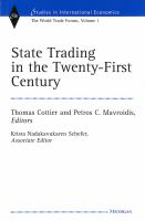 Cover image for State Trading in the Twenty-First Century The World Trade Forum, Volume 1
