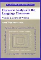 Cover image for Discourse analysis in the language classroom