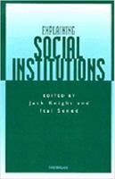 Cover image for Explaining social institutions