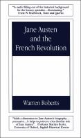 Cover image for Jane Austen and the French Revolution