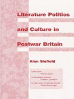 Cover image for Literature, politics, and culture in postwar Britain