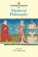 Cover image for The Cambridge companion to medieval philosophy
