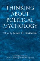 Cover image for Thinking about political psychology