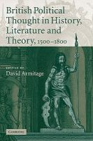 Cover image for British political thought in history, literature and theory, 1500-1800