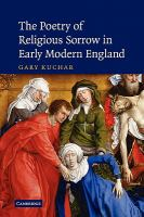 Cover image for The poetry of religious sorrow in early modern England