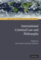 Cover image for International criminal law and philosophy