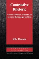 Cover image for Contrastive rhetoric : cross-cultural aspects of second-language writing.