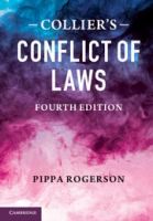 Cover image for Collier's conflict of laws