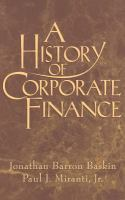 Cover image for A history of corporate finance