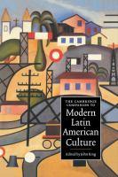 Cover image for The Cambridge companion to modern Latin American culture
