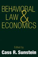 Cover image for Behavioral law and economics