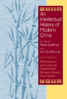 Cover image for An intellectual history of modern China
