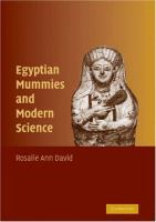 Cover image for Egyptian mummies and modern science