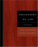 Cover image for Philosophy of law