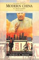 Cover image for Modern China, a history
