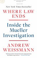 Cover image for Where law ends inside the Mueller investigation