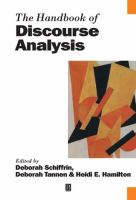 Cover image for The Handbook of discourse analysis