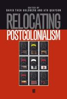 Cover image for Relocating postcolonialism
