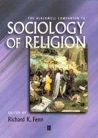 Cover image for The Blackwell companion to sociology of religion
