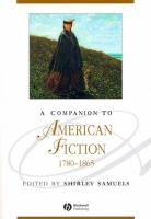 Cover image for A companion to American fiction, 1780-1865