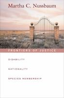 Cover image for Frontiers of justice : disability, nationality, species membership