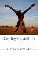 Cover image for Creating capabilities : the human development approach