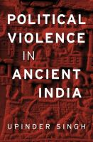 Cover image for Political violence in ancient India