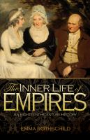 Cover image for The inner life of empires : an eighteenth-century history