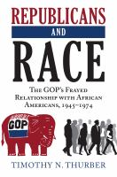 Cover image for Republicans and Race Republicans and Race