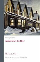 Cover image for History of the Gothic: American Gothic