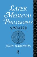 Cover image for Medieval philosophy