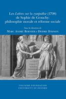 Cover image for Les Lettres sur la sympathie (1798) de Sophie de Grouchy : philosophie morale et réforme sociale