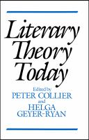 Cover image for Literary theory today