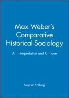 Cover image for Max Weber's comparative-historical sociology