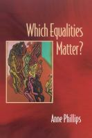Cover image for Which equalities matter?