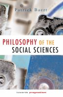 Cover image for Philosophy of the social sciences :  towards pragmatism